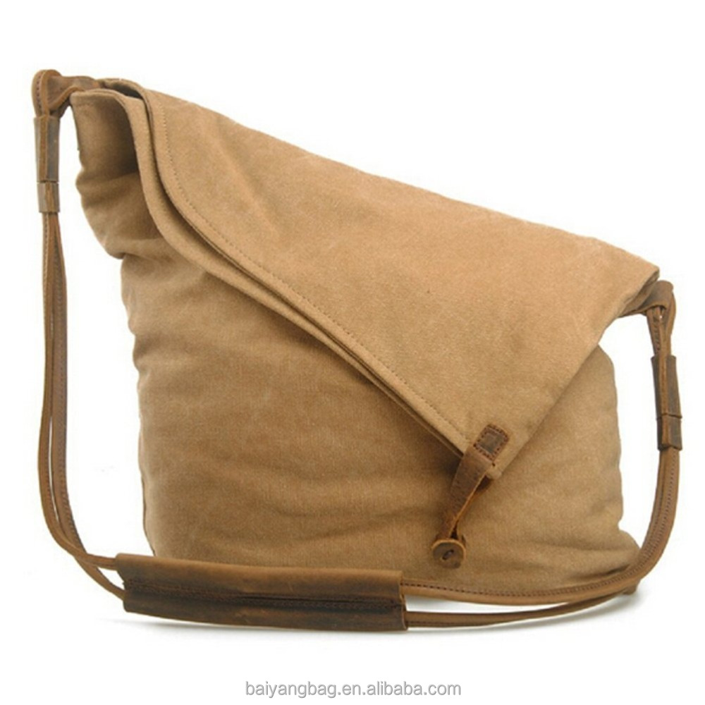Retro Large Canvas Hobo Shoulder Weekend Travel Handbag sling bag