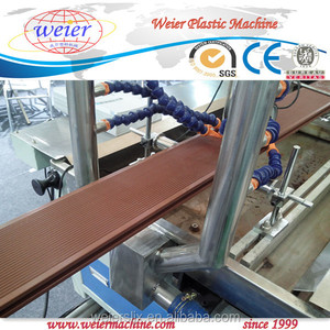 polymer wood composite wpc profile production line / wpc decking extrusion machine/terrace board twin extruder making machine