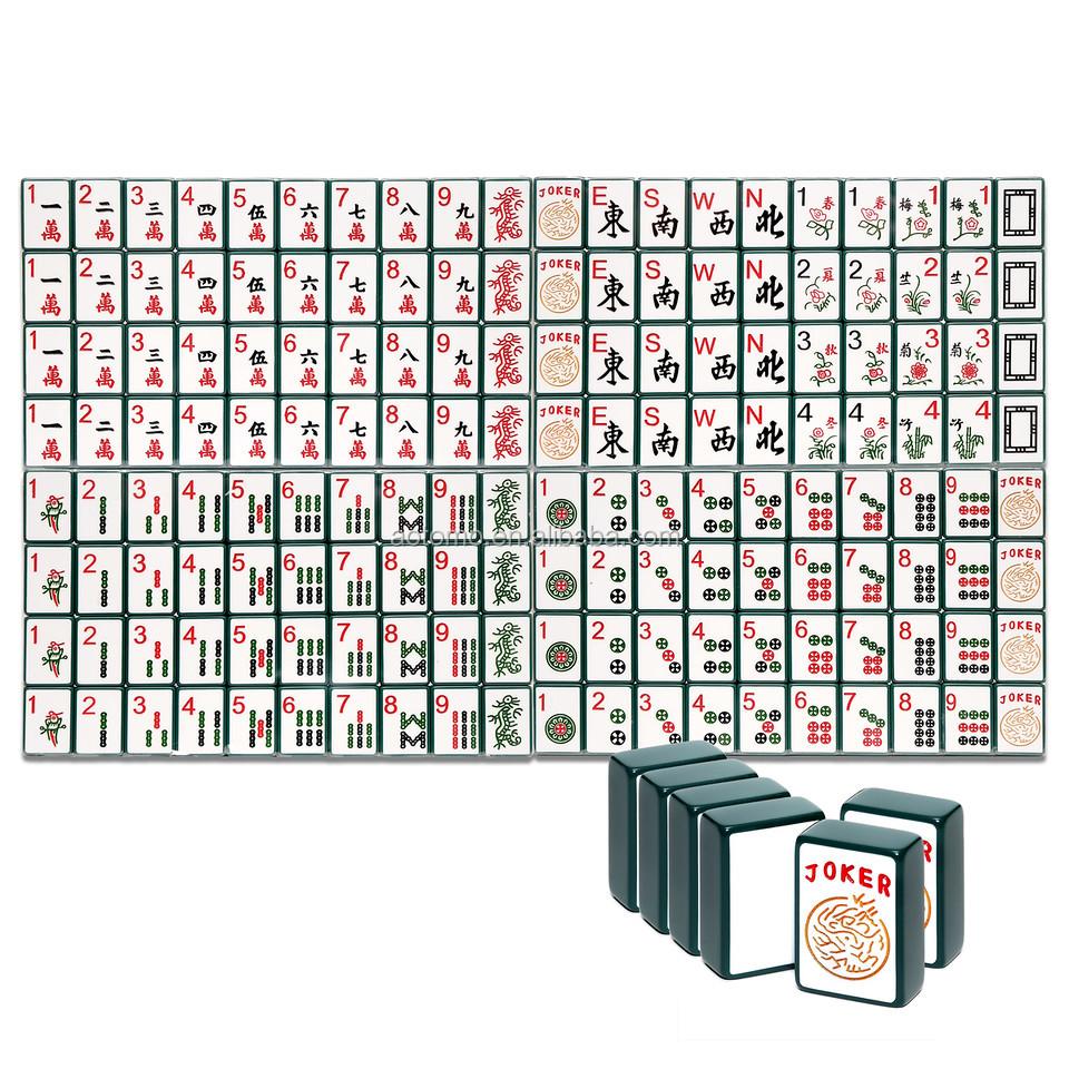 custom engraved enrobed mahjong set - Enrob Color