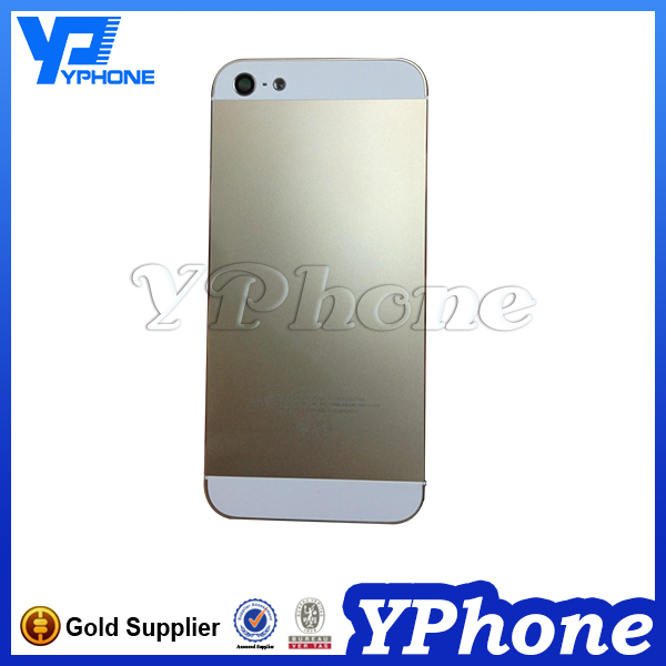 Factory oem replacement for iphone 5s back cover housing complete with side button