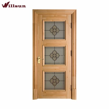 Burly Wood Modern Wood Front Door Front Entry Doors Glass External