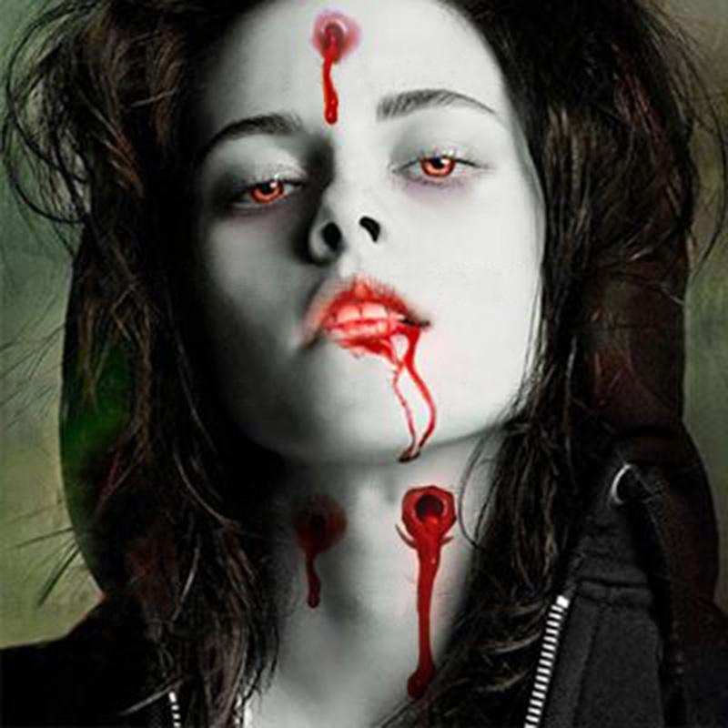 10 pcs sac halloween zombie cicatrices tatouages avec faux cro te sanglante maquillage halloween - Maquillage halloween cicatrice ...