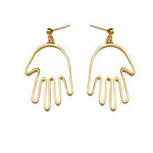 Женские серьги-капельки, модные серьги золотого цвета в форме сердца(Китай)
