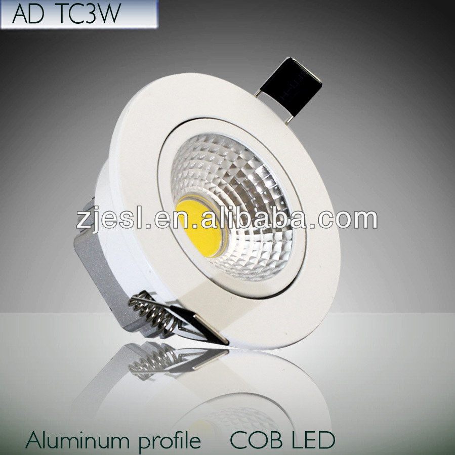 CE&RoHS High quality Aluminum Housing 3W/5W/7W/10W cob led downlight with 3 years guarantee