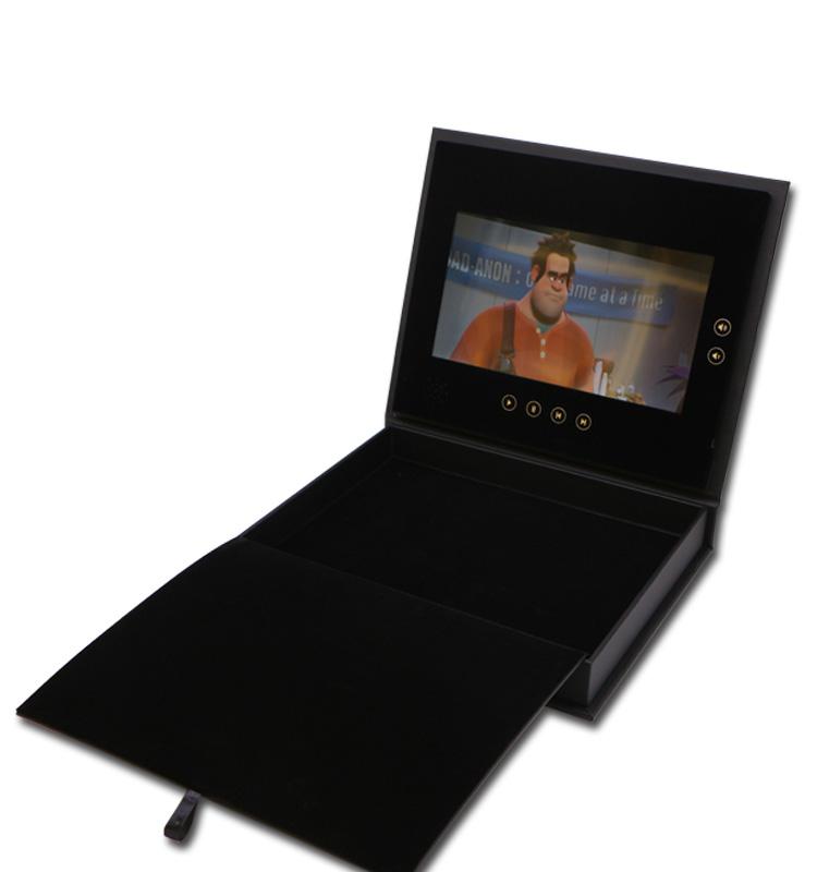 Kustom Promosi Hadiah Bisnis Kartu Digital A4 7 Inch TFT IPS LCD Video Pesan Ucapan Pernikahan Undangan Brosur Kartu
