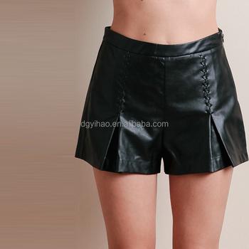b6977cc751 YiHao sexy corto caliente pantalones para niña pantalones cortos de cuero  de las mujeres de tamaño