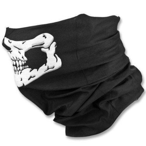 Factory Directly Sale Cheap High Quality Black Seamless Skull Face Tube Mask Bandana