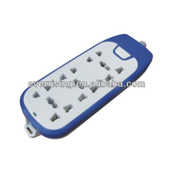 3 pin plug 6 way multi power extension socket