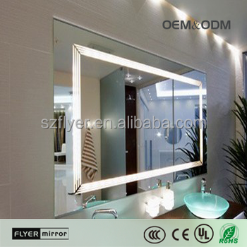 Wholesale 5mm Thickness Framed Mirrors Led Bathroom Mirror Price