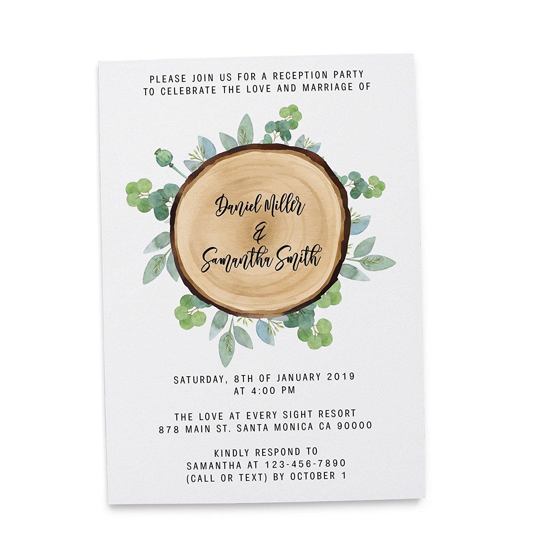 Buy Affordable Post Wedding Reception Invitation White 5 X
