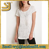 Slub Knit Trapeze Tee ladies blouses and tops 2015,2015-ladies-tops-latest-design tops