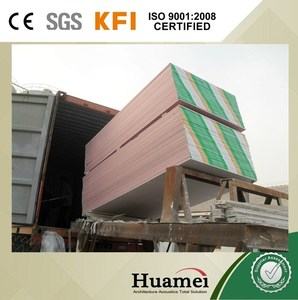 factory direct sale fabric/cloth faced gypsum board CE/SGS/ISO certificated