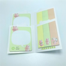 Speciale die-cut Vorm Sticky Notes Aangepaste Vorm <span class=keywords><strong>Memo</strong></span> <span class=keywords><strong>Pad</strong></span> Stijl <span class=keywords><strong>Met</strong></span> Soft Cover