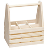 2016 wholesale FSC handmade high quality wooden beer holder wooden wine carrier