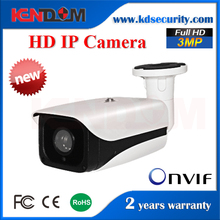 Beautiful High Quality Bullet P2P HD IP Camera New Design Better Night Vision 3MP Geovision OEM IP Camera module
