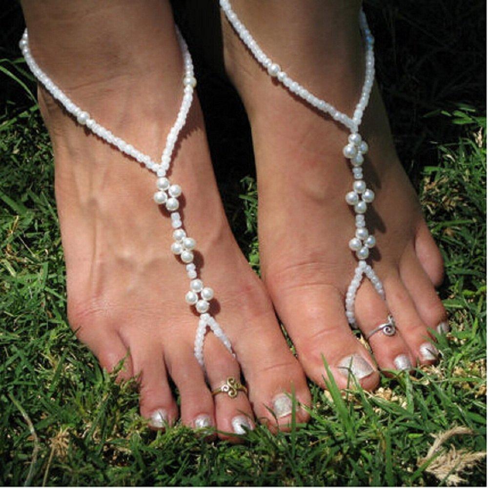 Buy Baby Toddler Kids Starfish Foot Jewelry Wedding Flower Girl