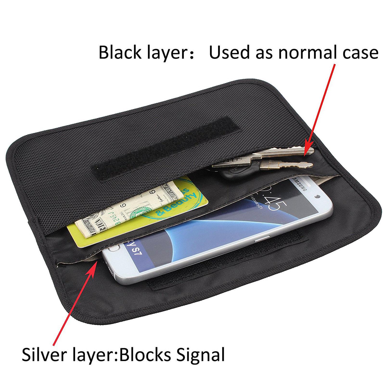 3229fa451426 Car Key Protector Wifi/gsm/lte/nfc/rf Blocker Faraday Cage Shield Car Key  Fob Signal Blocking Pouch Bag - Buy Keyfob Rfid Signal Blocking Bag,Key Fob  ...