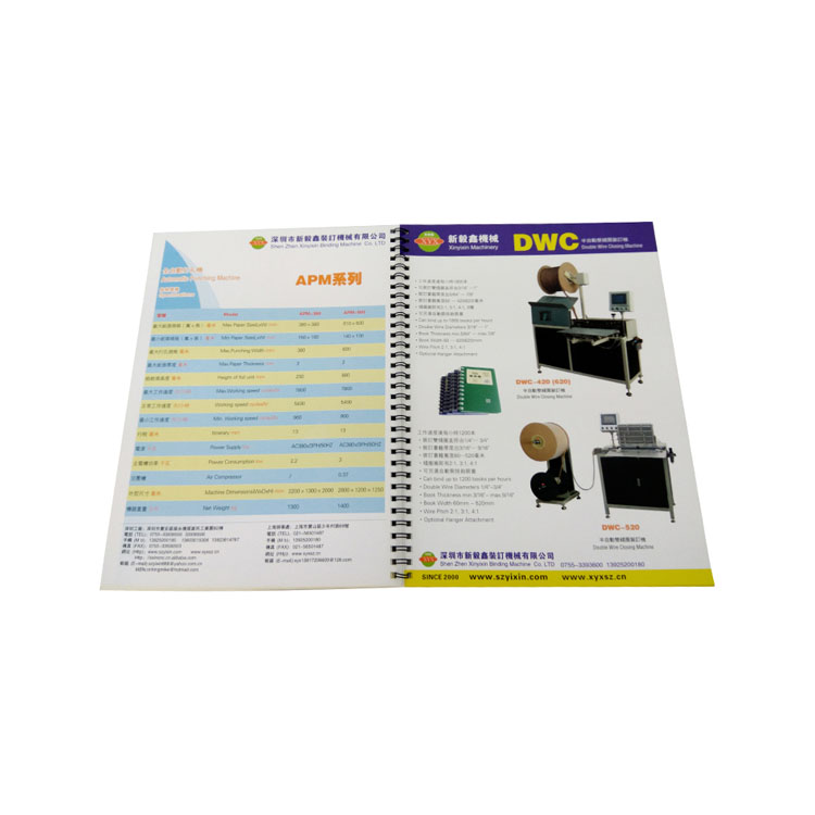 High quality factory price company advertising wire binding catalogue <strong>printing</strong>