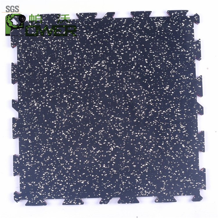 Fitness room sport interlocking gym rubber flooring for sale