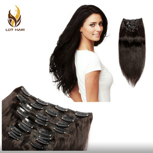 Cheaper beauty popular style top quality 100% remy hair clip hair extension