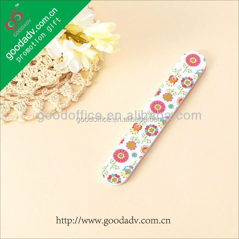 Promotional sleeve emery board disposable novelty nail file