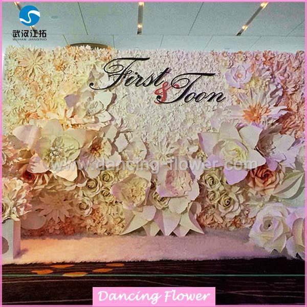 Wedding Stage Flower Decoration Paper Flowers Wedding Wall ...