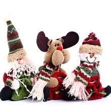 Vianočná dekorácia – snehuliak, santa a sobík