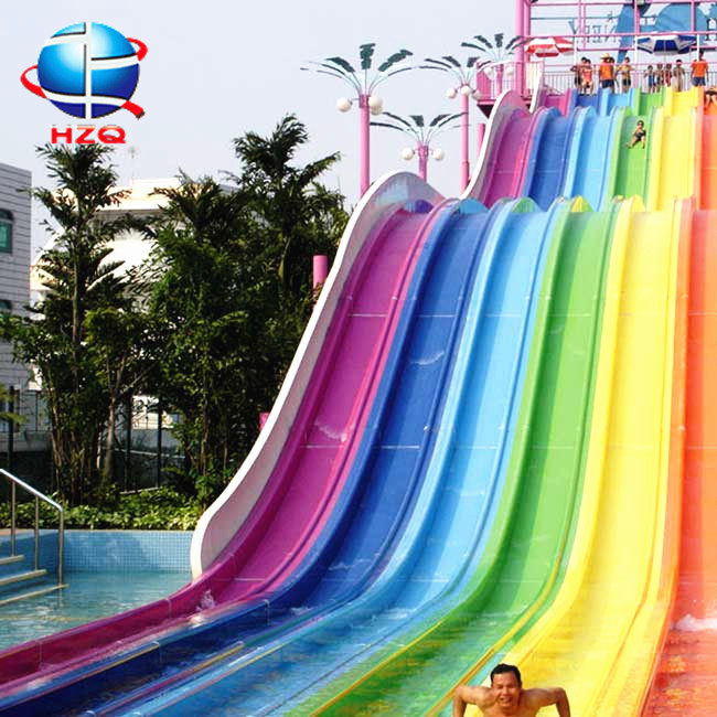 Most popular seaside water slide for sale+rainbow race water slide most popular