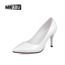 patent women pure white footwear high heeled foot leather pointe shoes