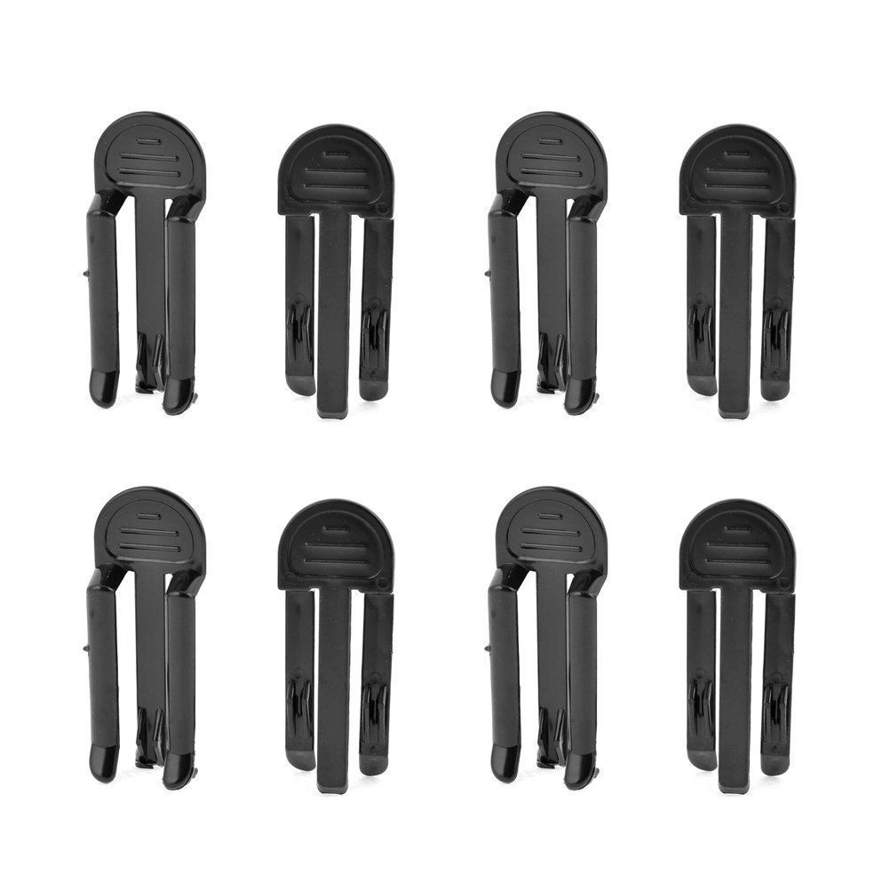 Black Garbage Bag Clips Garbage Rubbish Trash Can Bag Clip Clamp Holder Rubbish Clip Large Kitchen Bags Clip Junk Clip Pack of 8
