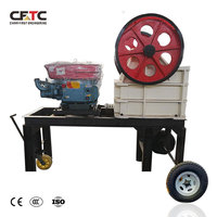 Mining Equipment 2-3 T/H Mini Mobile Diesel Ballast Jaw Crusher Station with Good Price for Sale New Zealand