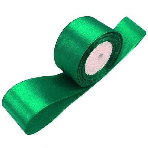 TOOGOO(R) 1 roll (25 yards/roll) 2'' (50mm) single face Satin Ribbon Webbing Decoration Gift Christmas Ribbons(dark green)
