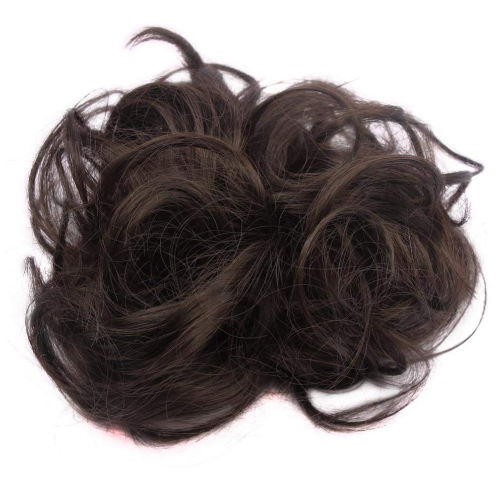 Новые приходят синтетический булочка волосы 35 г эластичный локон волос Scrunchie лето горячая распродажа женщины поддельные волосы бун WQ541G