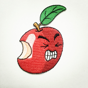 Apple Micro-facial Expressions Heat Seal Digital Computer Embroidery Patches