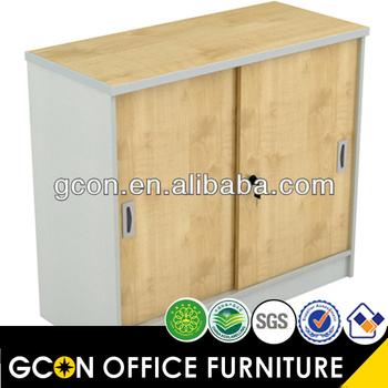 2 door wood sliding u0026 lockable storage cabinet gf515