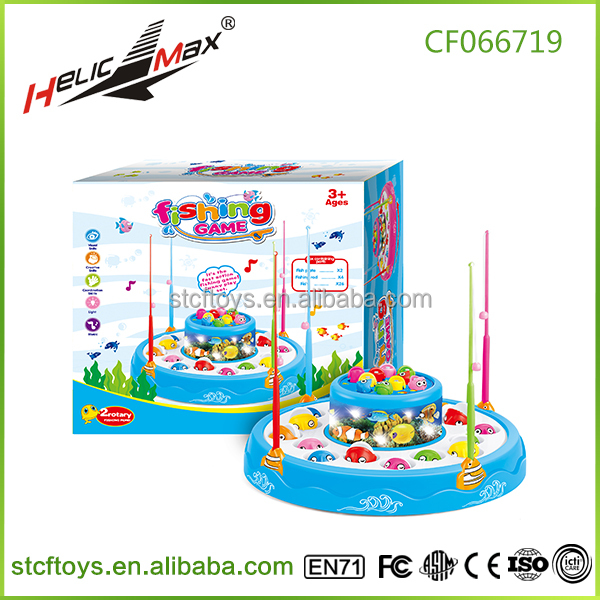 Double-Deck Electric Fishing Parent-Child Games Fishing Toy Children's Educational Toys