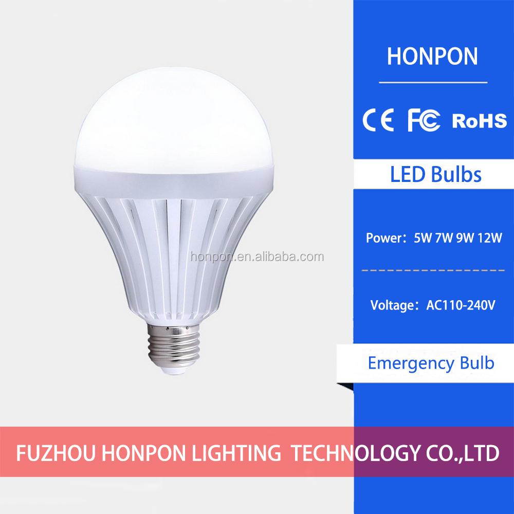 Intelligent control emergency led bulb 7w led rechargeable kit led light emergency
