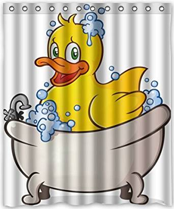 Get Quotations Yellow Duck In Tub Waterproof Fabric Polyester Bathroom Shower Curtain 60w X