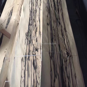 0.5mm Thickness Black and White Ebony Wood Veneer