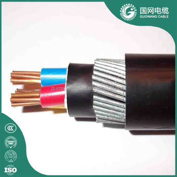 0.6/1kv Xlpe Insulated Pvc/pe Sheath Galvanized Steel Wire Armored ...