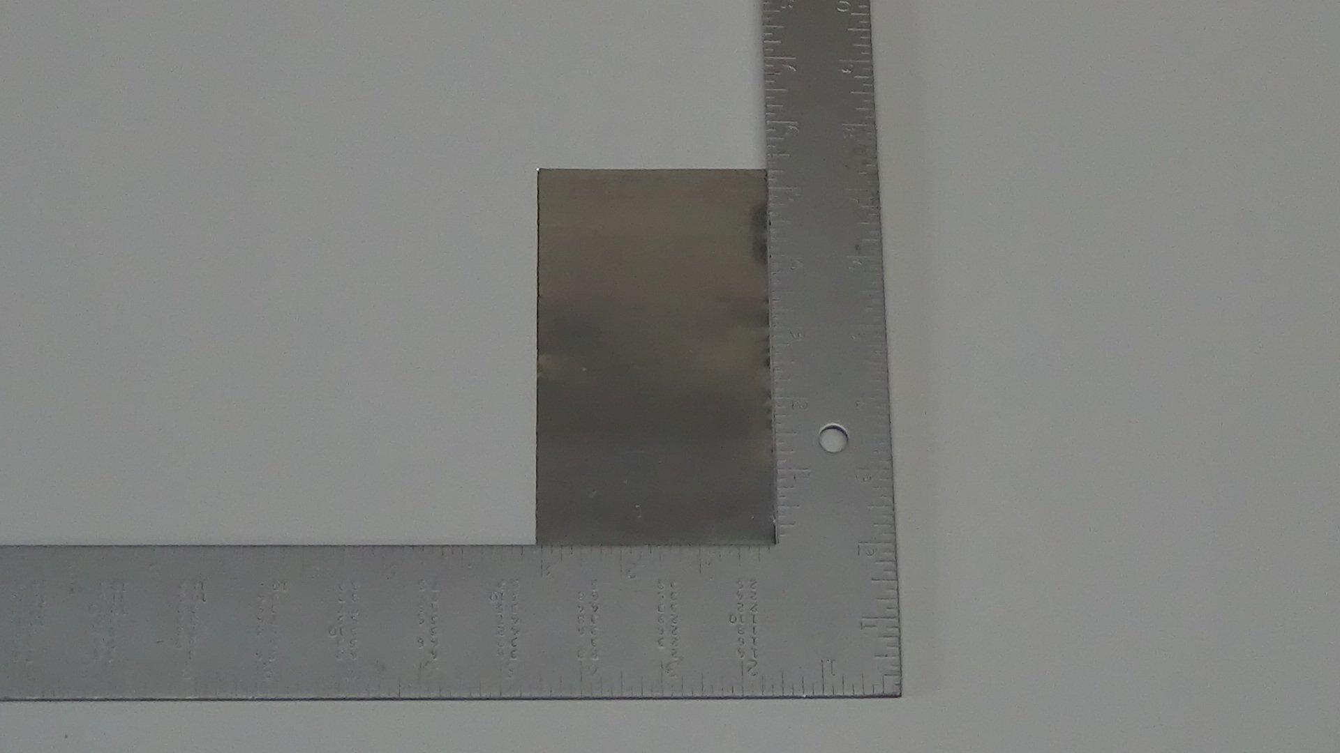 "Magnesium Foil, 99.95% Pure, 0.05mm (.002"") x 125mm (5"") x 80mm (3.1"")"