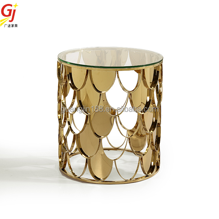 fish scale mirror side table ET-2012S