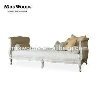 French Country Upholstered Daybed Chaise Lounge