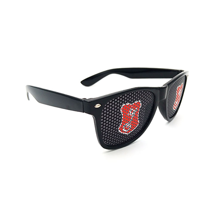 Free sample black frame custom stickers sunglasses Advertising sunglasses