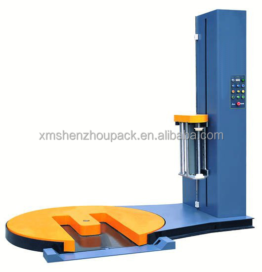 automatic M type pallet stretch film wrapping machine/M type stretch wrapper/M-tunnel pallet wrapper