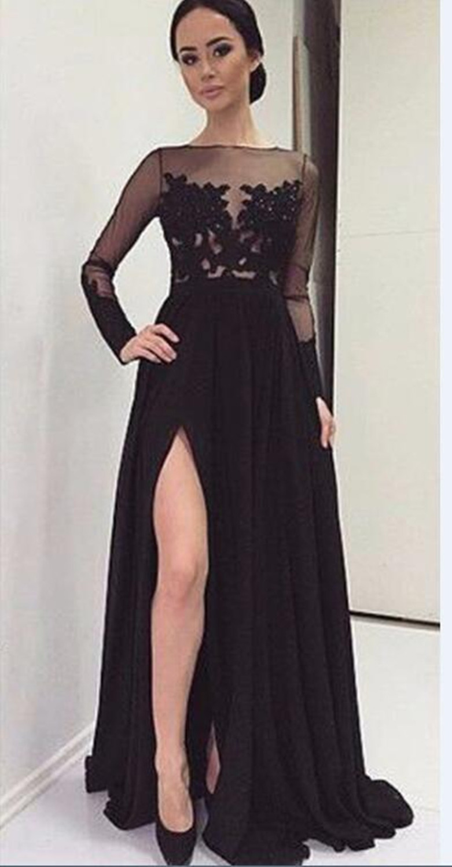 Vestido Negro Largo Elegante Ken Chad Consulting Ltd