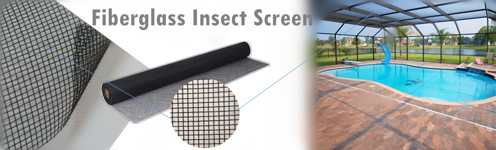 0.013 Inch Yarn Black color 18*14 Fiberglass Insect Screen