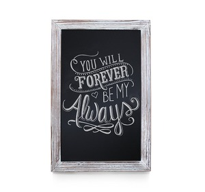 Rustic Whitewashed Magnetic Wall Chalkboard