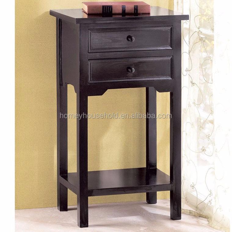 slaapkamer meubels hout bank bijzettafel 2 lades nachtkastje