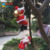 new design Christmas santa climbing rope 3 Christmas Santa claus in a rope Christmas ornaments climbing tree decoration
